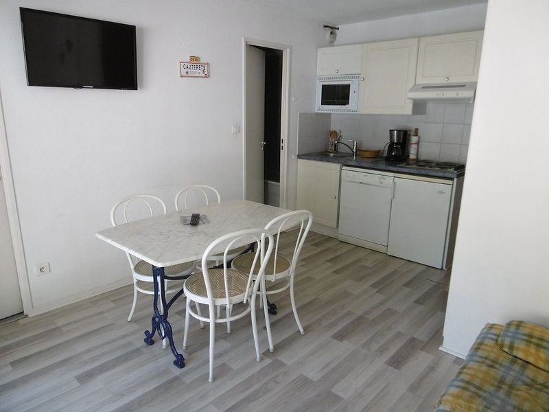 Appartement 4/ 6 places  HYPER CENTRE 37 m2 + balcon , 3éme étage avec ascenseur, holiday rental in Cauterets