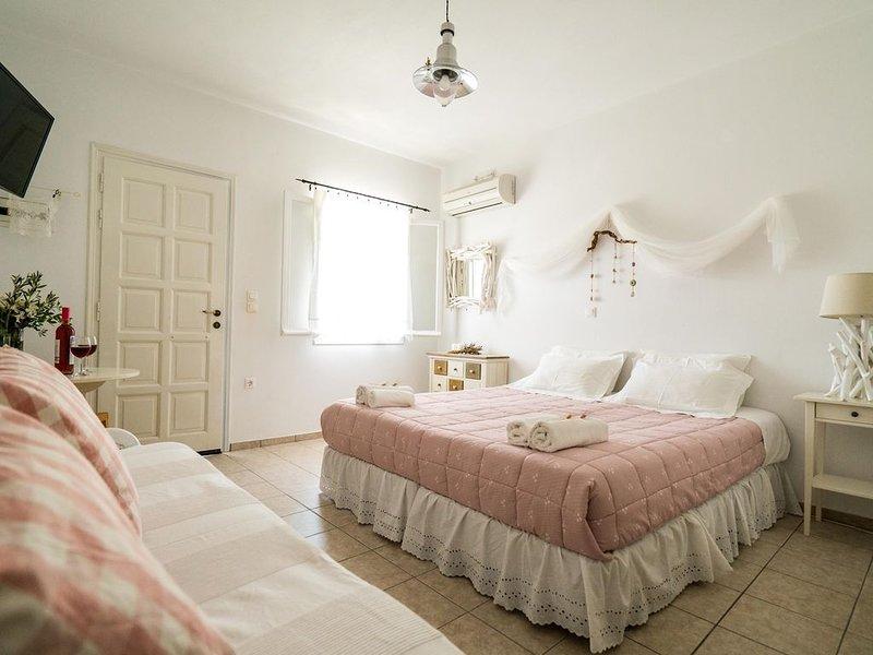 Studio romantique pour 2 personnes, location de vacances à Katapola