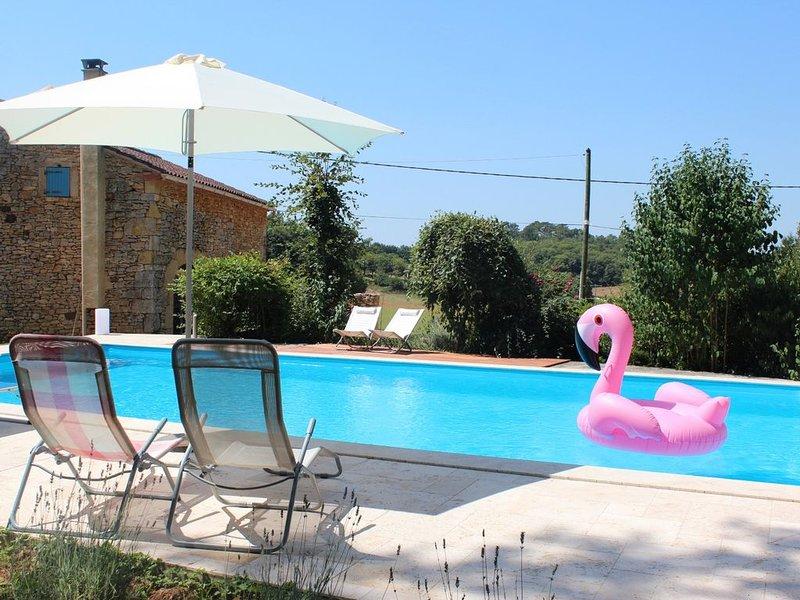 Maison de vacances à la campagne avec piscine privée, vacation rental in Blanquefort-sur-Briolance