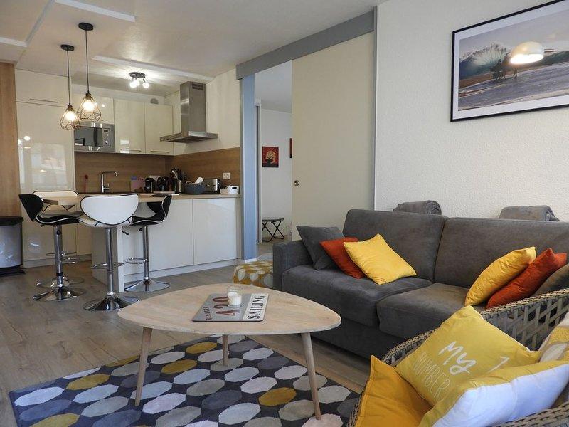 Appartement confortable pour 4 dans résidence avec jardin et piscine, vacation rental in Capbreton