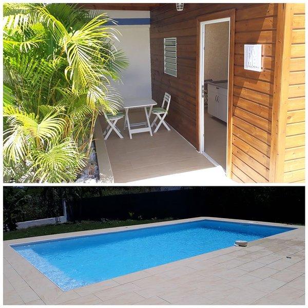 F2 piscine - Zen & Green - confort, location de vacances à Baie-Mahault
