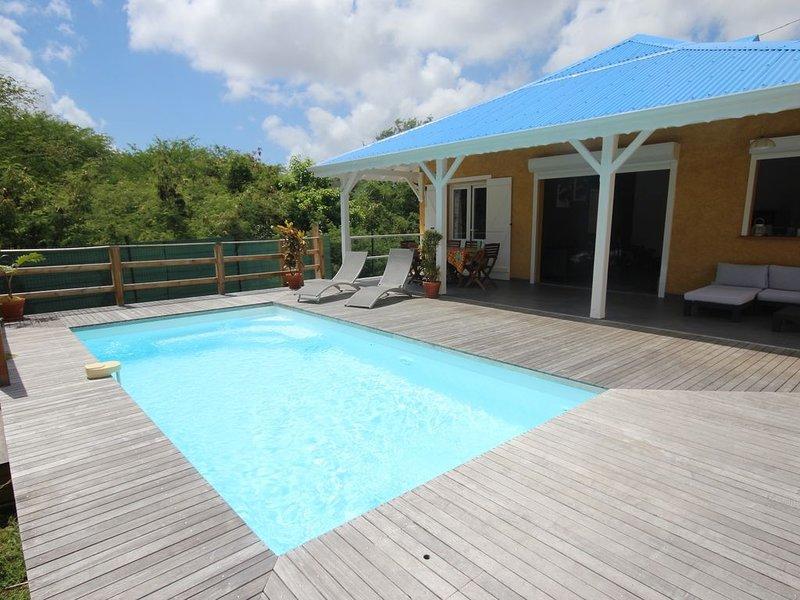 Villa Bel Plaisi tout équipée avec piscine privative, location de vacances à Le Moule