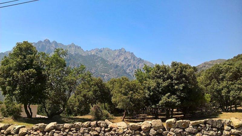 T2 chaleureux  face à la montagne, location de vacances à Pietralba