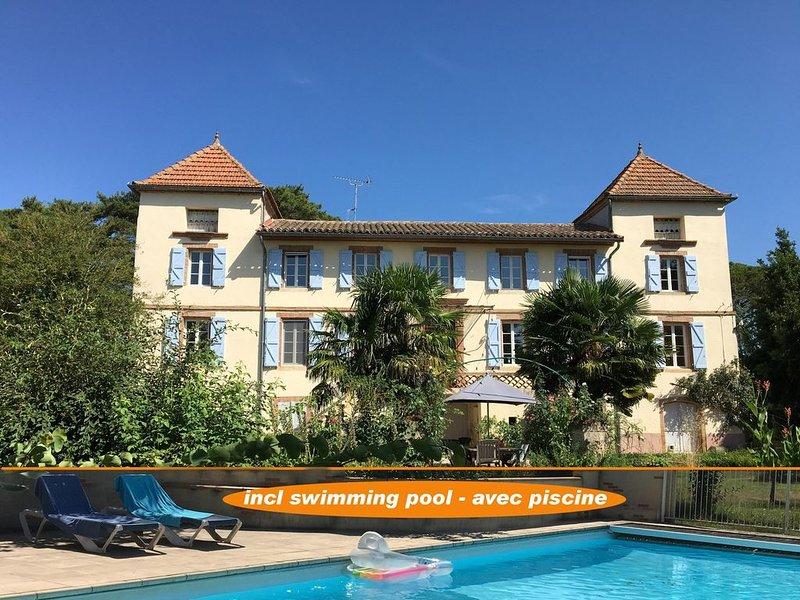 Suite familiale avec piscine entre Toulouse &Albi, location de vacances à Rabastens