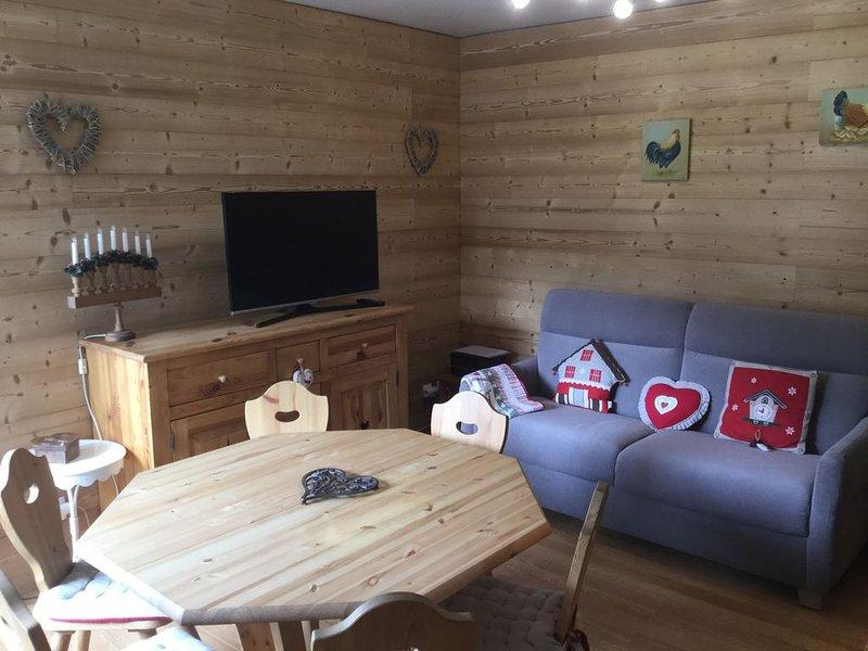 Appartement à Saint Gervais les Bains.  A10mn à pied des télé cabines, location de vacances à Saint-Gervais-les-Bains