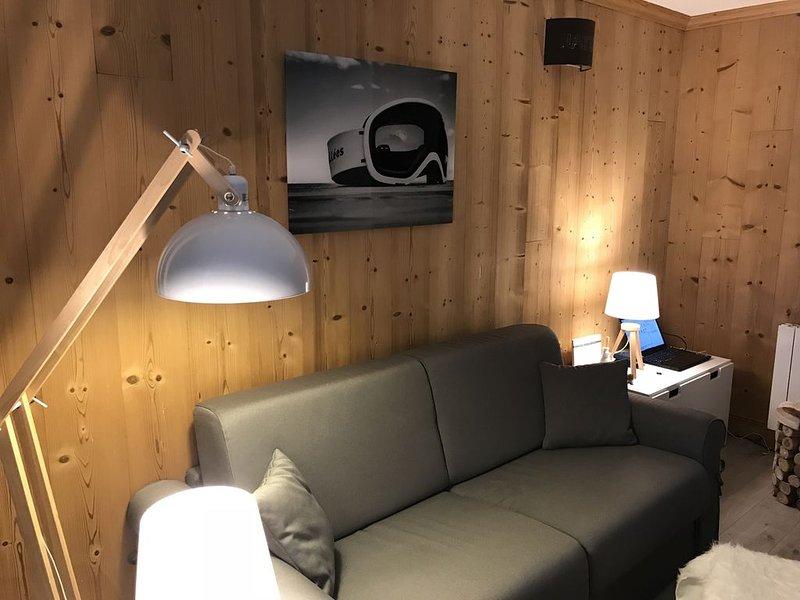 Studio cosy idéal pour se ressourcer proche du spa//Cosy flat close to the spa, alquiler de vacaciones en Brides-les-Bains