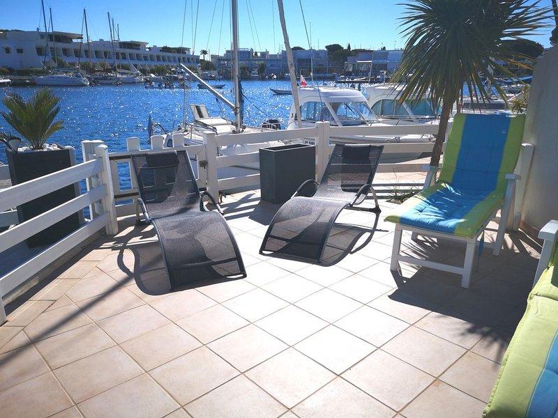 Agréable marina de 6 pers, location de vacances à Le Grau-du-Roi