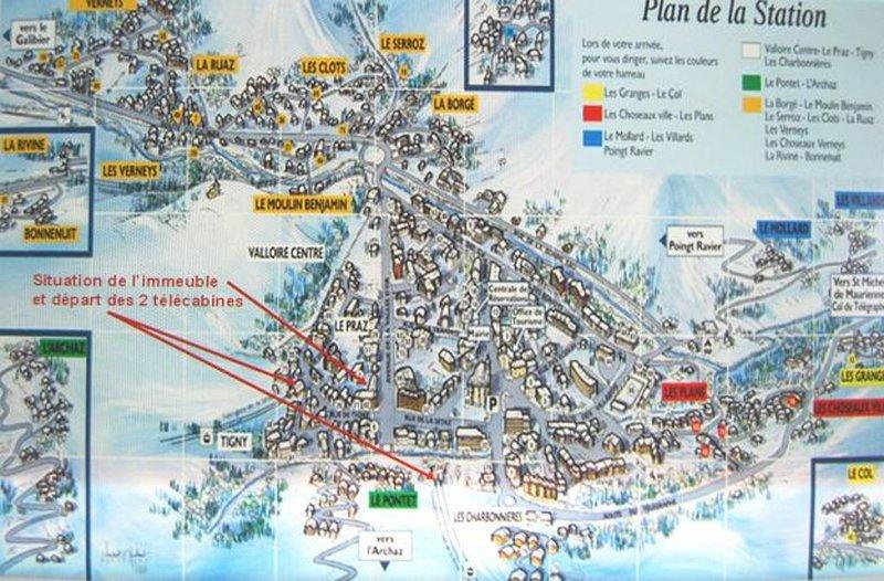 A 50 mètres des télécabines, des écoles de ski, des garderies, un parking privé, location de vacances à Valloire