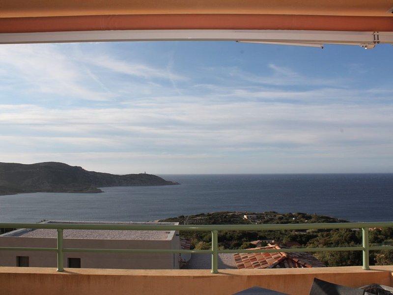 appartement T2  au calme vue mer imprenable idéal 4 personnes, vakantiewoning in Calvi