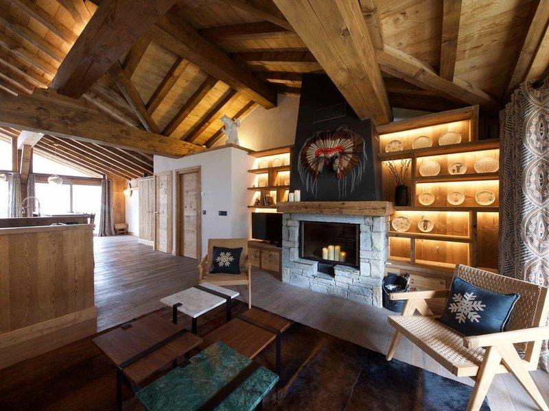 Duplex****comme un chalet 4 chambres 4sdb 10 couchages terrasses hammam ski room, holiday rental in Saint-Bon-Tarentaise