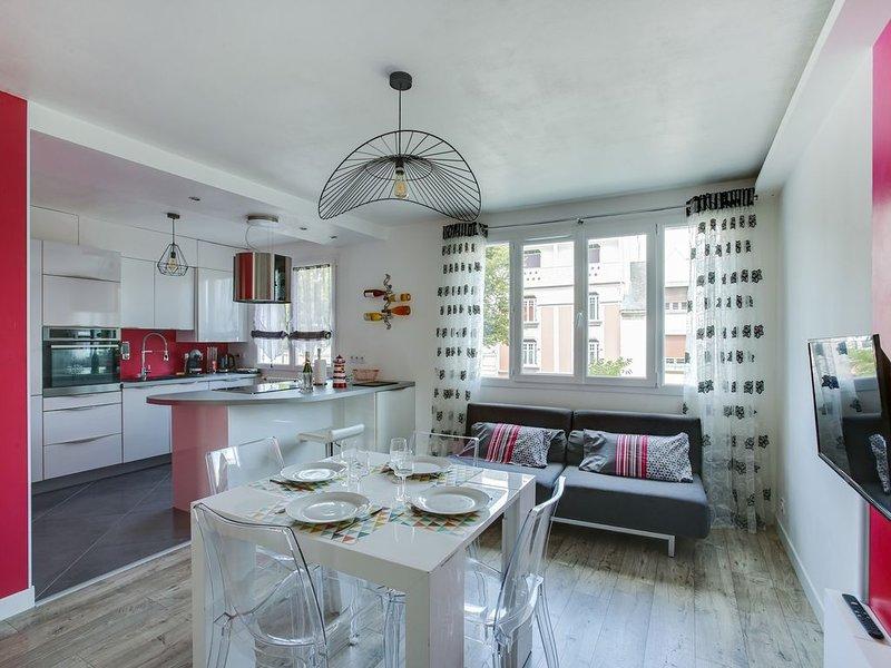 NINA HOME - Chic T3 tout équipé, centre-ville, location de vacances à Lorient