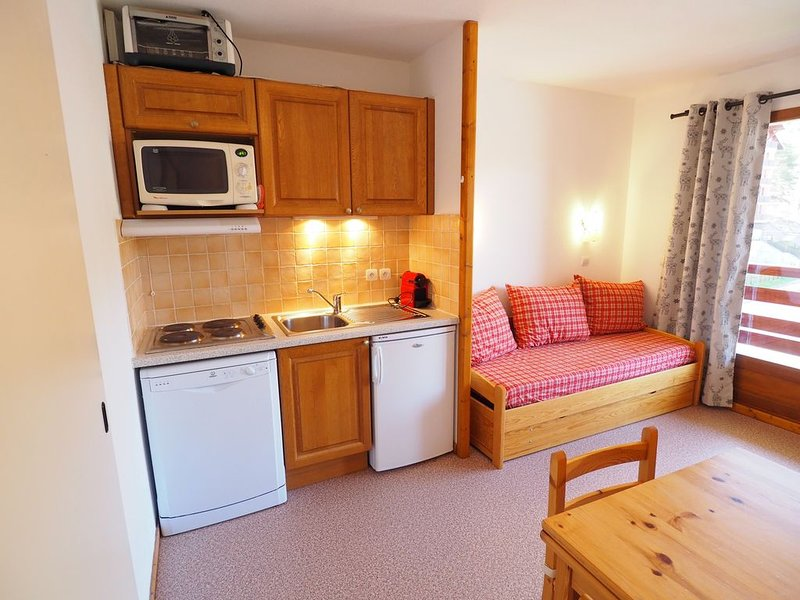 Appartement 2 pièces 6 personnes 31m² la Joup du loup au centre du Village, aluguéis de temporada em Le Devoluy