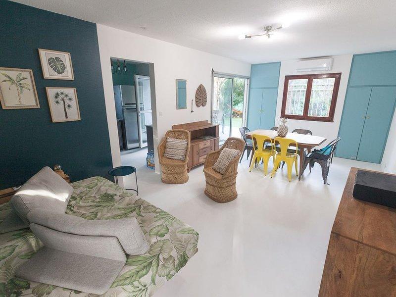 Banan'appart - l'Ermitage Magnifique T3 avec jardin rénové entièrement, location de vacances à La Saline les Bains
