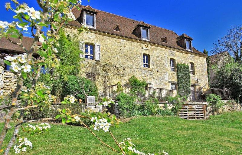 Maison de maître proche SARLAT- LASCAUX - Piscine chauffée & calme -idyllique, vacation rental in Aubas