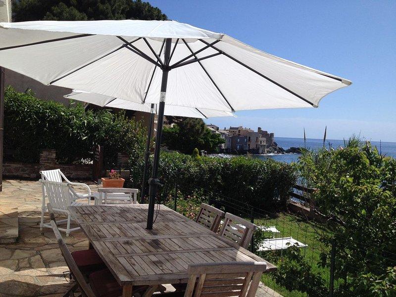Maison individuelle Site exeptionnel les pieds dans l'eau Terrasse et jardin, vacation rental in Brando