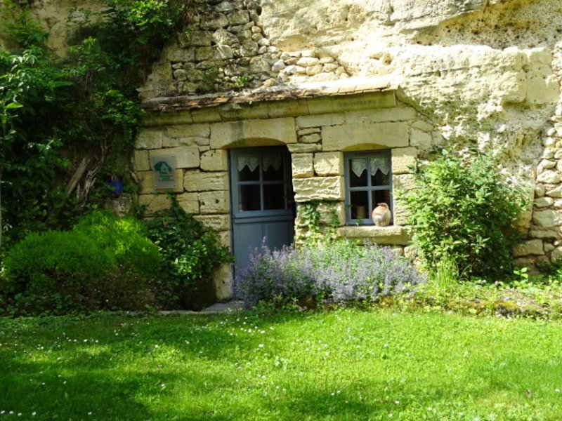 Gîte Troglodytique  3 étoiles calme et verdoyant, vacation rental in Saint-Epain
