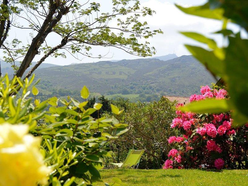 Appartement avec jardin et terrasse privatifs, alquiler vacacional en Sare