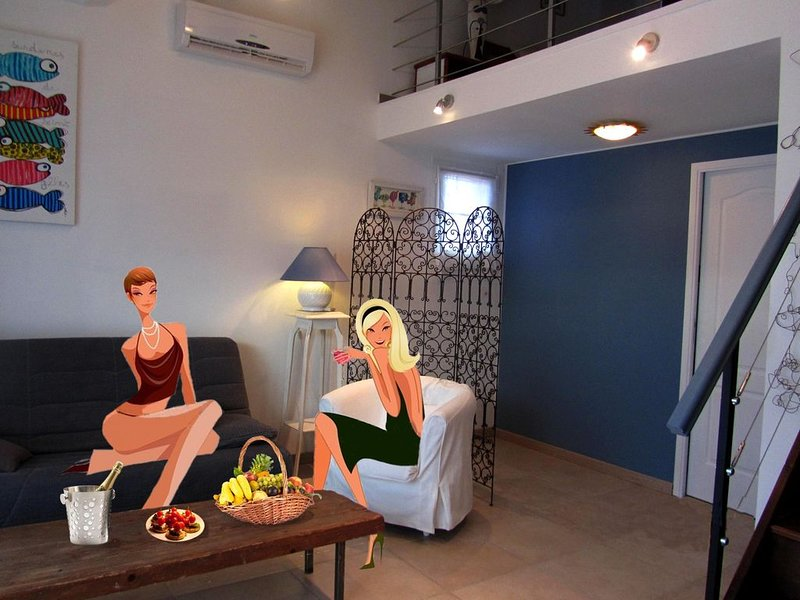 RAVISSANT DUPLEX VIP AVEC PISCINE ET JARDIN PRIVATIFS (SANS VIS-A-VIS), holiday rental in Ortaffa