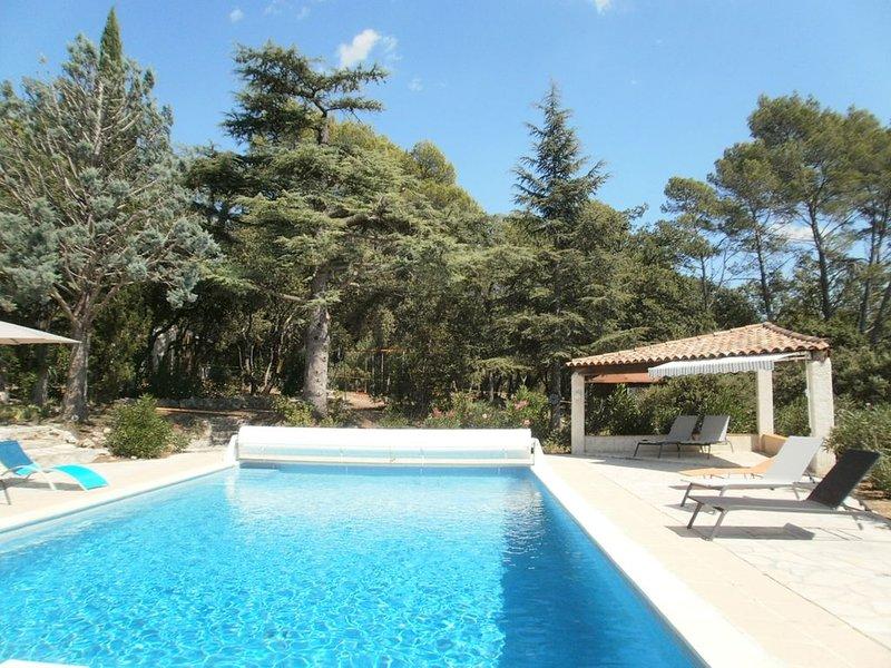 Clim, piscine 12x6, plongeoir, sur 2 hectares, vue panoramique, calme, location de vacances à Taradeau