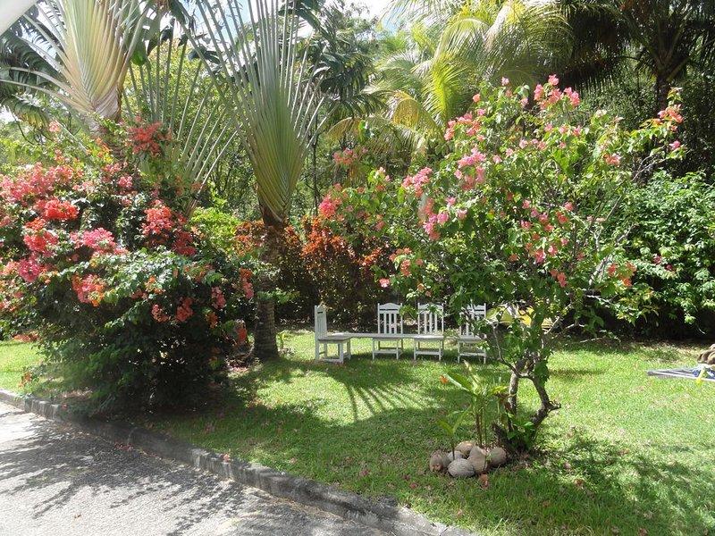 Maison lumineuse au calme avec un beau jardin et plage toute proche, holiday rental in Sainte-Anne