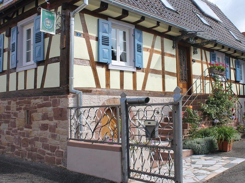 Gîte Catherine Maison Alsacienne jusqu'à 6 personnes classé 3 épis, holiday rental in Oberbronn