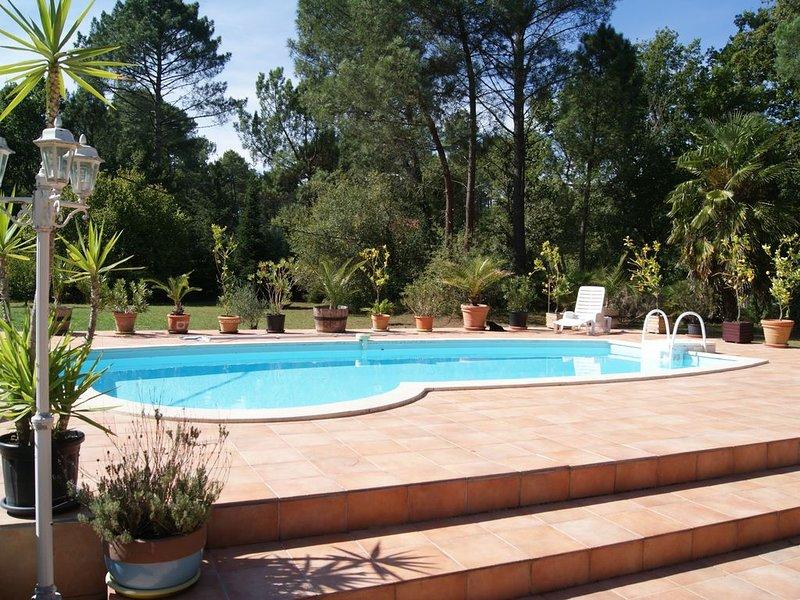 Maison Landes Sud Gironde SPA et Piscne PRIVATIFS, holiday rental in Commensacq