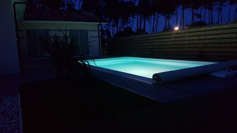 Villa 08 personnes avec piscine chauffée privative classée 4 étoiles, holiday rental in Saint-Paul-en-Born