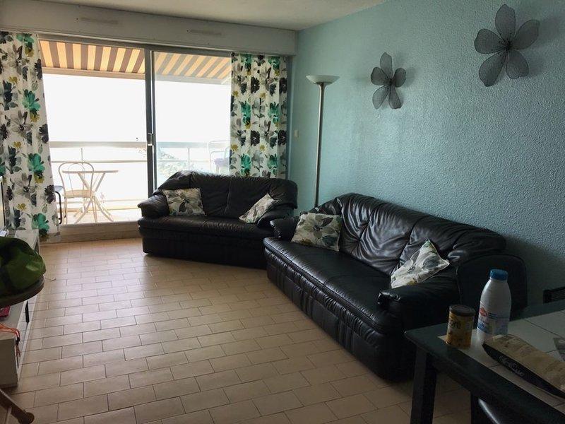 appartement premiere ligne 2 balcons vue mer calme idéal  famille avec enfants, location de vacances à Carnon