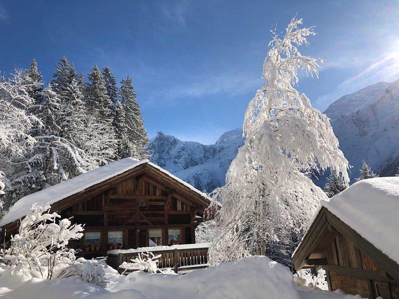 Promotion d'automne, réduction à la semaine ! Vue magnifique sur le Mont Blanc., holiday rental in Les Houches