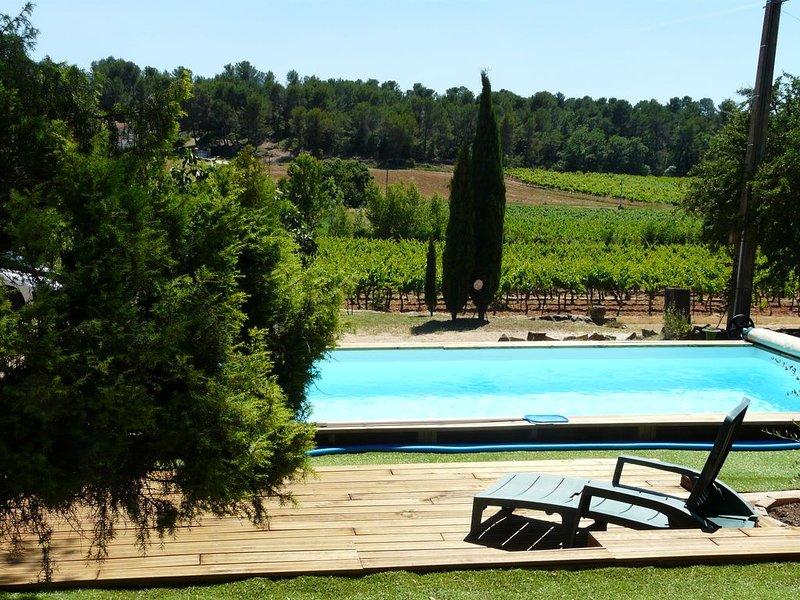 Maison de campagne au milieu des vignes, location de vacances à Pourrieres