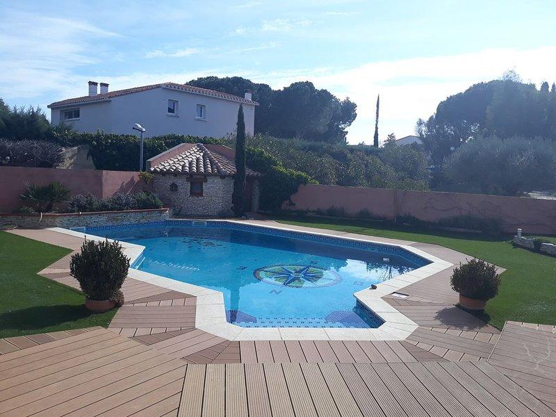 Belle propriété de 130 m2 avec piscine en pays Catalan. Entre mer et montagne., holiday rental in Peyrestortes
