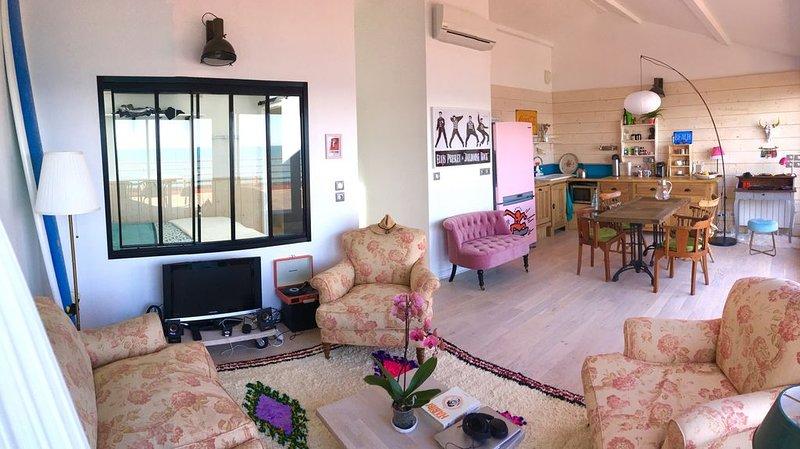 appartement luxe 1ère ligne terrasse plein ciel, alquiler vacacional en Palavas-les-Flots