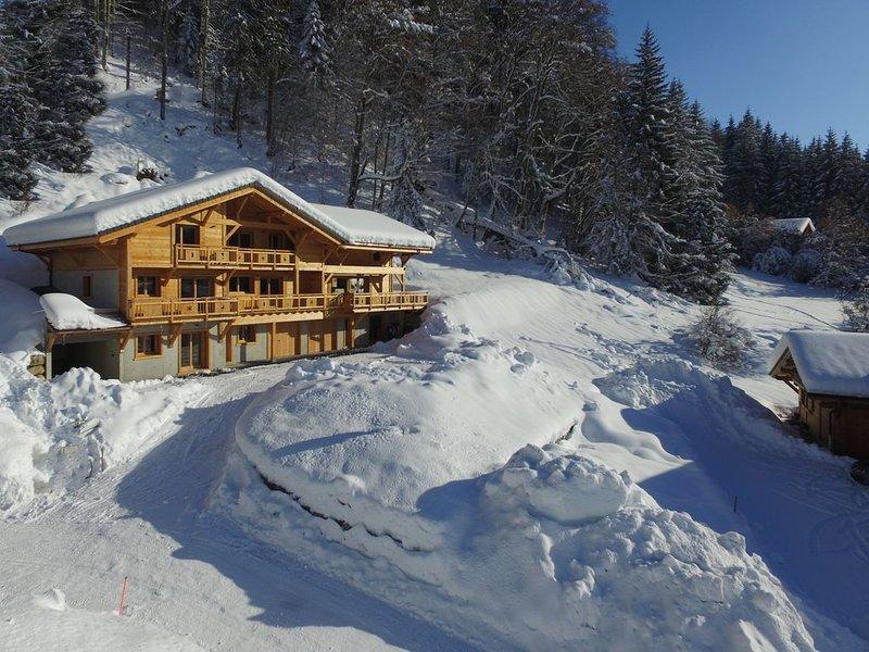 Chalet Arpitan - vue panoramique, calme - les Carroz Grand Massif, vacation rental in Les Carroz-d'Araches