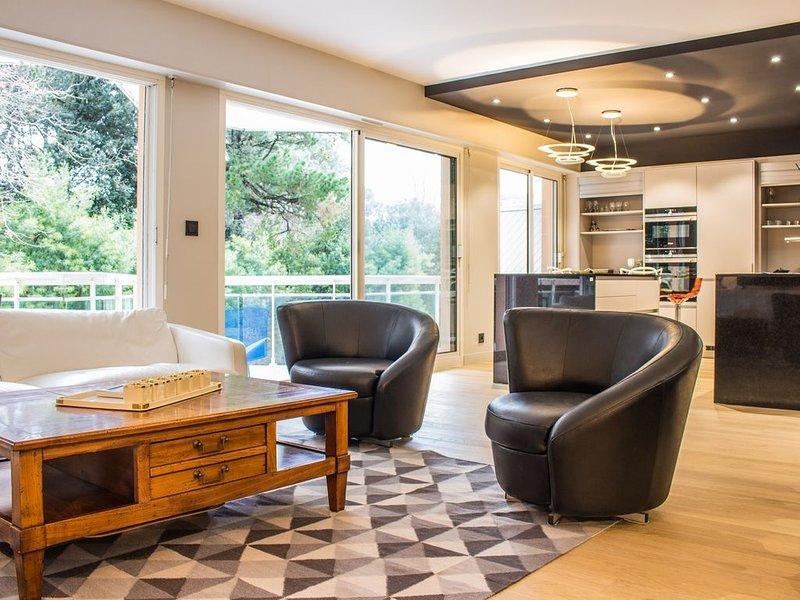 Spacieux appartement avec terrasse et piscines, vacation rental in Biarritz