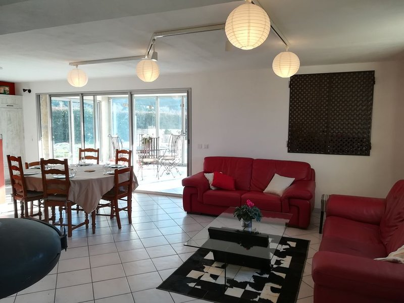 Large living room open on the veranda