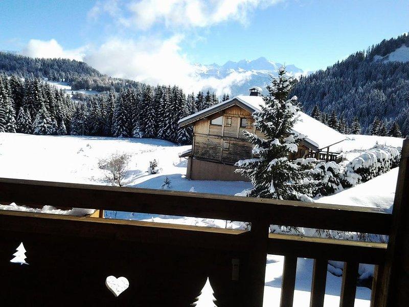 Appartement 5 pers. avec terrasse face au mont blanc - 3 Pièces 5 personnes, casa vacanza a Onnion