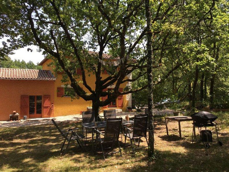 Grande villa isolée, très au calme, à 5 mn du superbe village médiéval de Penne., holiday rental in Puycelci