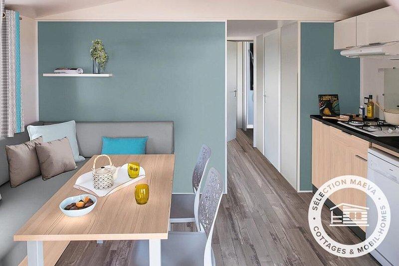 Camping maeva Club La Mer Blanche *** - Mobil Home Glenan 3 Pièces 4/6 Personnes, aluguéis de temporada em Benodet