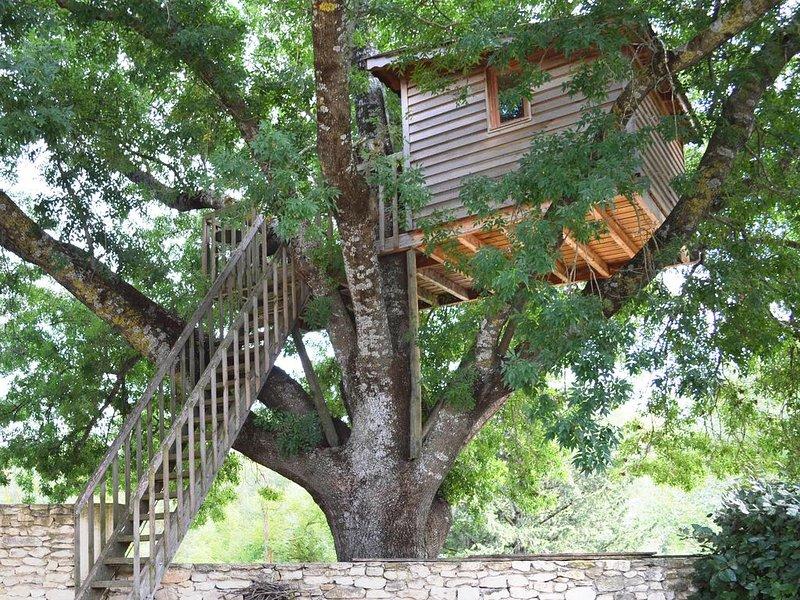 Cabane perchée en Lubéron avec jacuzzi, location de vacances à Oppède