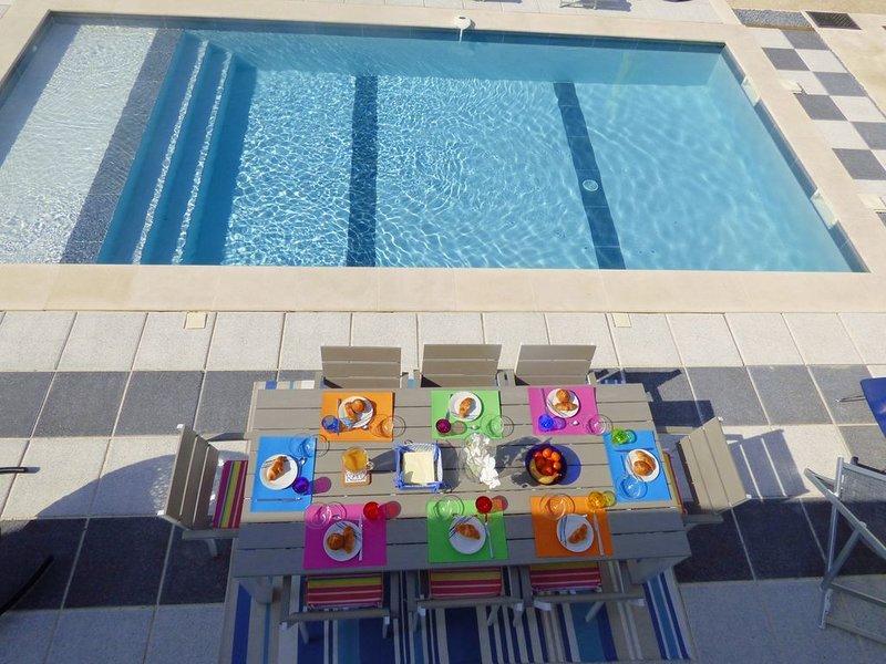 Villa californienne climatisée et piscine chauffée, Ferienwohnung in Vence