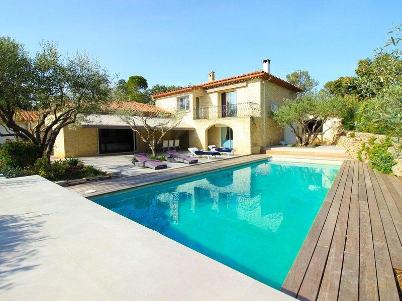 Magnifique villa en pierre de taille avec piscine, holiday rental in Saint-Clement-de-Riviere