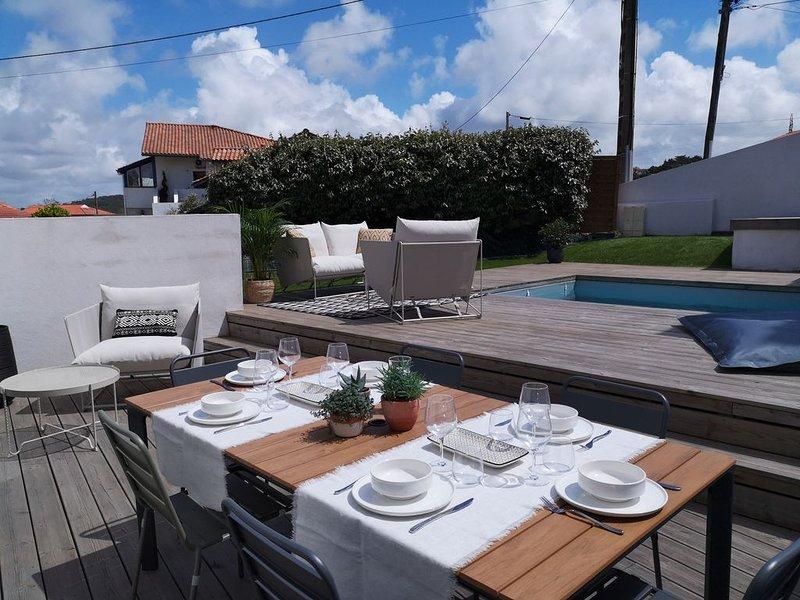 BIDART PLAGE, maison avec piscine privée et jardin, à 100m de la plage, location de vacances à Bidart