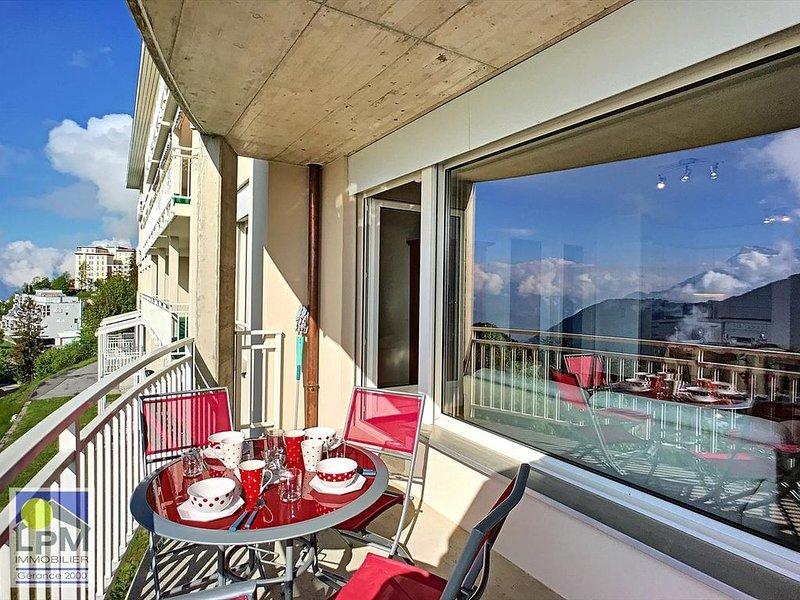 Larges Horizons 211 Beau 2 pièces de 55m2 (jusqu'à 5 personnes) au 1er étage d'u, location de vacances à Le Sepey