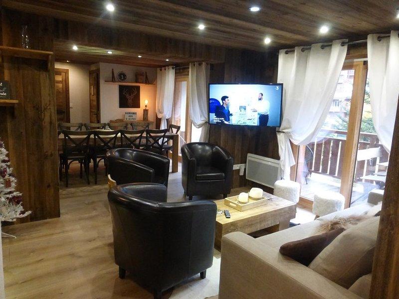 appartement exceptionnel 90m2 12 couchages-pied d une piste-parking couvert, alquiler vacacional en Mont-de-Lans