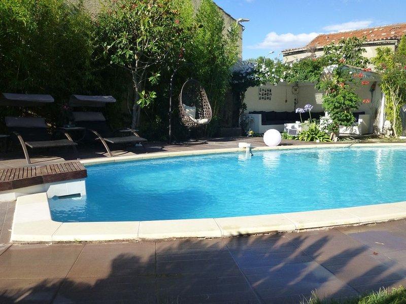 Villa 170m2- proche plage et centre- Villeneuve, holiday rental in Mireval