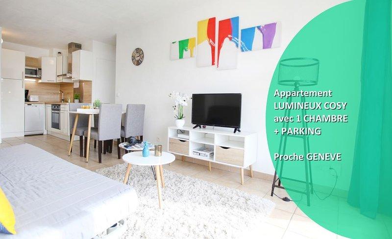 Bel Appartement, LUMINEUX et COSY, proche GENEVE, vacation rental in Gaillard