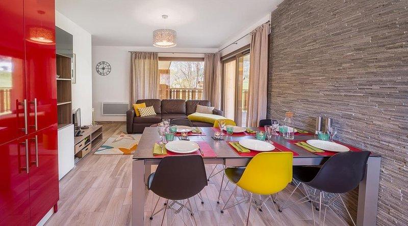 Appartement 6 pers - moderne, proche du centre et ski, alquiler vacacional en Chatel