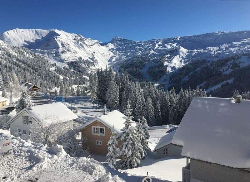 Studio Chaleureux pied des pistes Flaine 1800m, casa vacanza a Araches-la-Frasse
