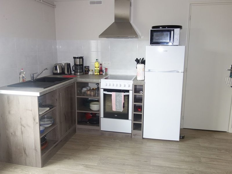 A very functional fully equipped kitchen will welcome you