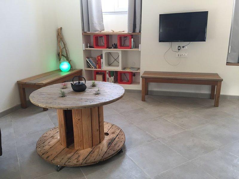 Charman appartement d'architecte à Menton, casa vacanza a Sainte-Agnes